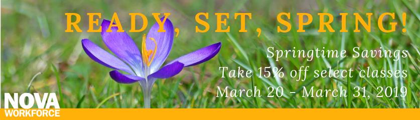 Springtime Savings